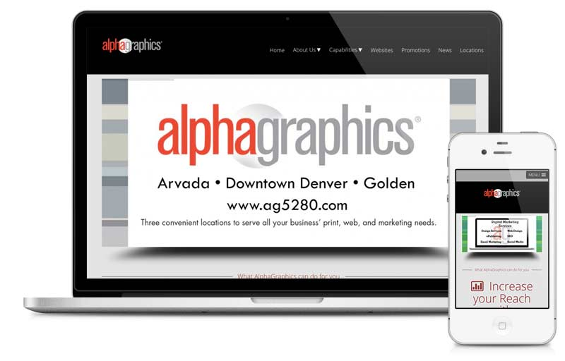 alphagraphics5280.com built on Microsite platform.
