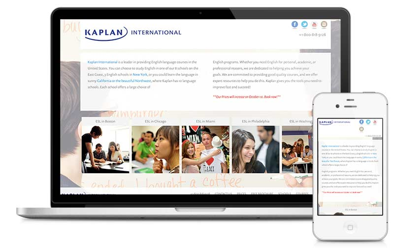Kaplan built on Microsite platform.
