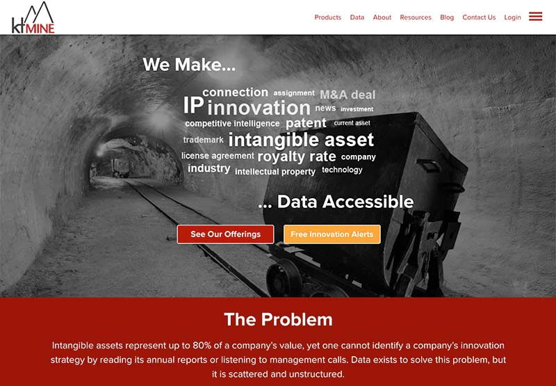 ktMINE site built on Microsite platform.