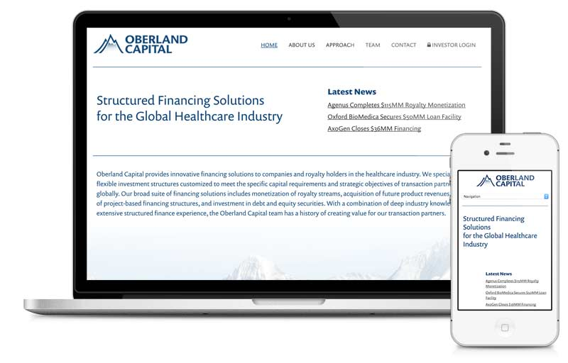 oberlandcapital.com built on Microsite platform.