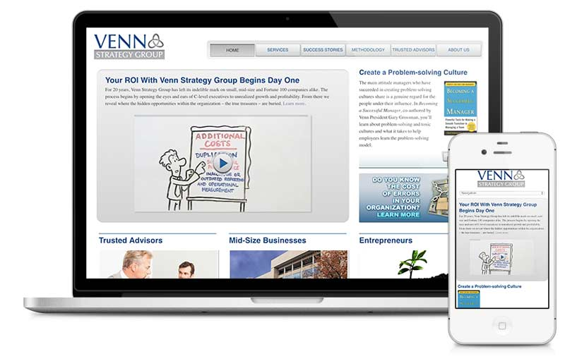Vennstrategygroup.com built on Microsite platform.